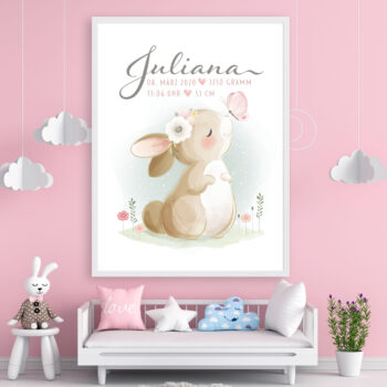 Poster,Hase,Geburtsdaten,Mädchen