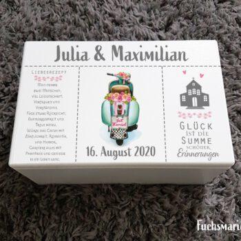 Erinnerungskiste,Holzbox,Hochzeit